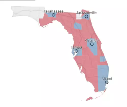 The New York Times currently gives Donald Trump a 95% chance of winning Florida. Florida is a must-win state for Trump