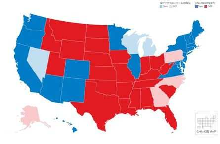 Here's how the electoral map looks like now