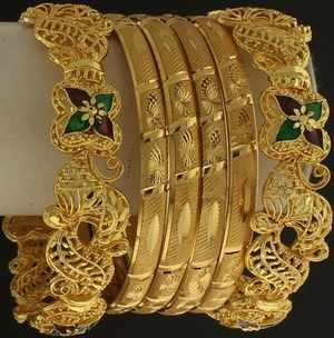 Gold-Bangles