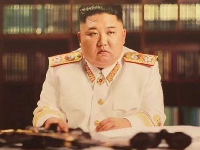 Portrait of another democratic nation: North Korea's Kim Jong-un likes his picture with a gun