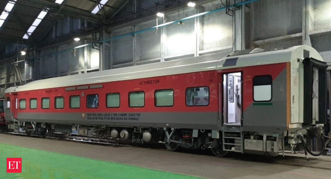 Indian Railways rolls out its first air conditioned three-tier economy class coach - Cheapest and best AC - Economic Times