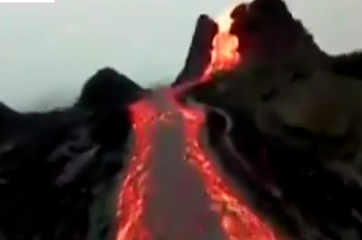 Watch: Drone footage captures lava spewing from Iceland volcano
