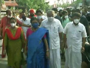 Kerala polls 2021: CM Pinarayi Vijayan casts his vote at a polling booth in Pinarayi