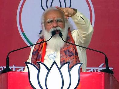 Mamata Didi clean-bowled in Nandigram; BJP has scored century in 4 phases itself: PM Modi