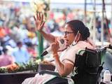 Mamata Banerjee stages dharna in Kolkata to protest EC's move to ban her campaign for 24 hours