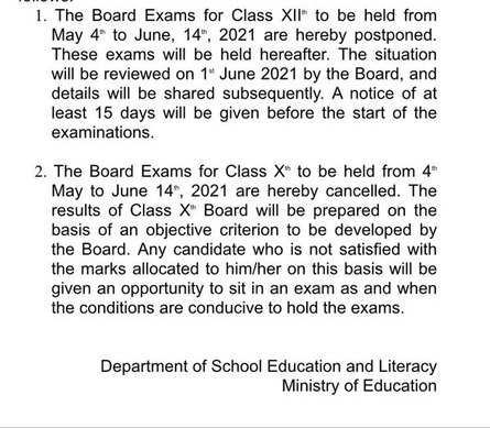 CBSE will review situation on June 1