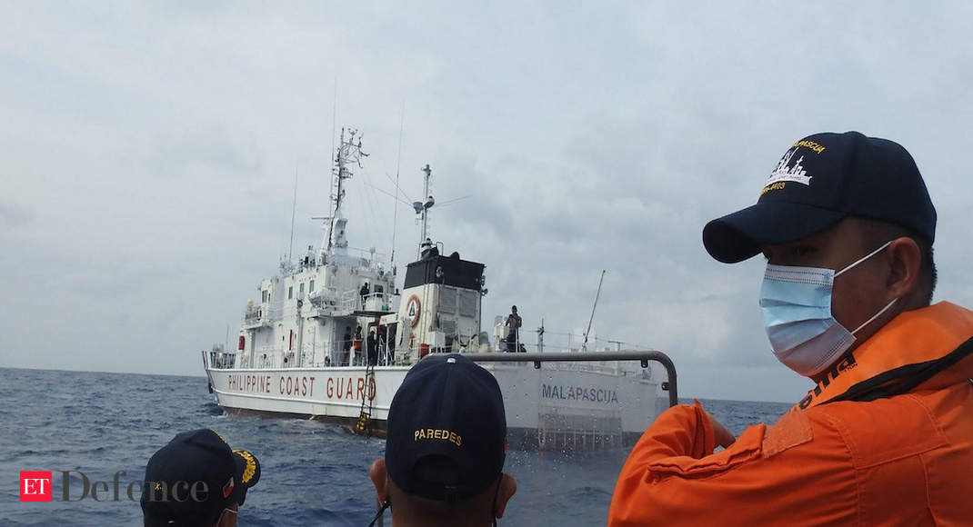 Philippine coast guard holds drills in disputed South China Sea