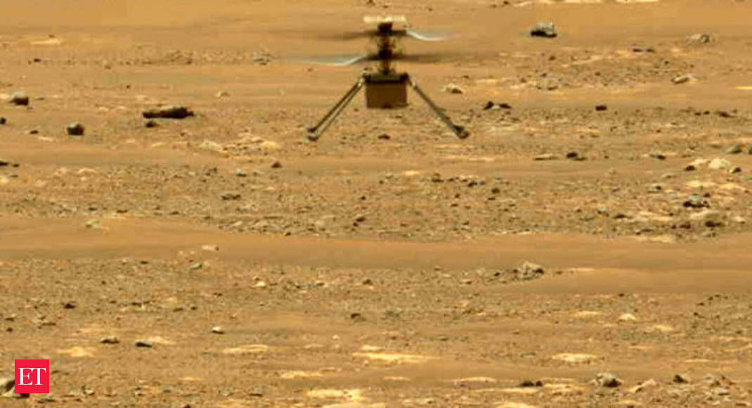 Watch: Mars helicopter makes another successful flight - Economic Times