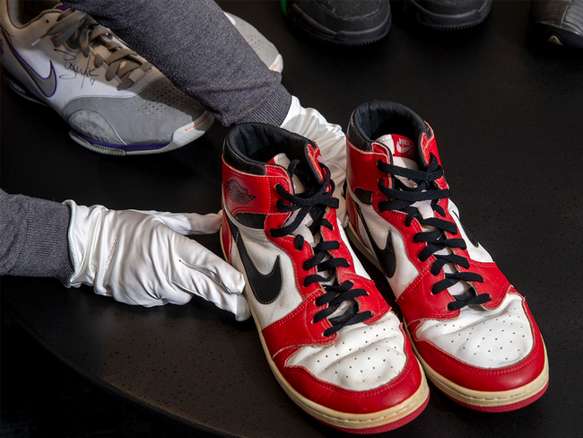 Sneakers worn by NBA champion Michael Jordan up for sale at ...