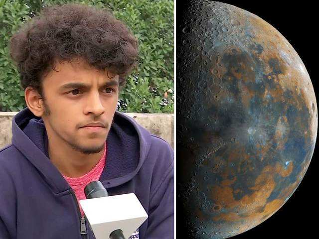 This Pune boy captures 'clearest image of the moon' that goes viral on social  media - A Pune boy captures this viral moon pic | The Economic Times