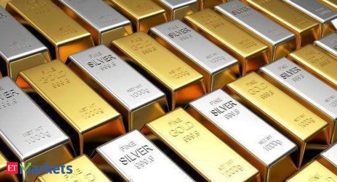 Gold declines by Rs 176, silver tumbles to Rs 61,765