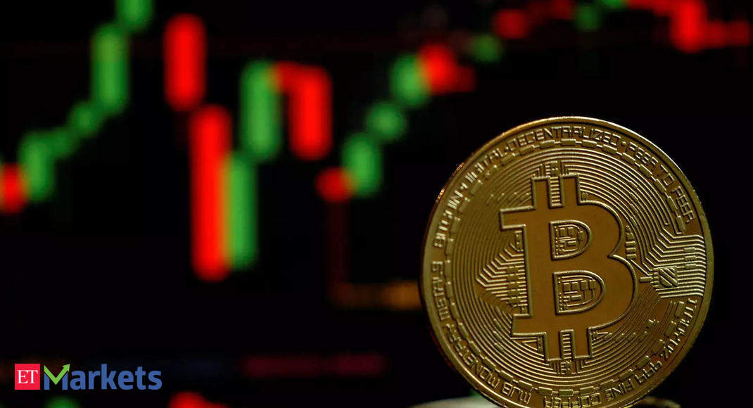 The largest cryptocurrency was last down 4.6 per cent at $42,874, with smaller coins that typically trade in tandem with bitcoin also tumbling. Ether fell over 8 per cent while XRP slipped 7 per cent.