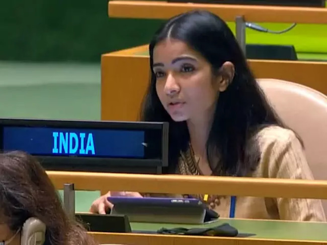 sneha dubey: Pakistan an arsonist disguised as fire-fighter, says Sneha  Dubey, India's First Secretary at UN - The Economic Times