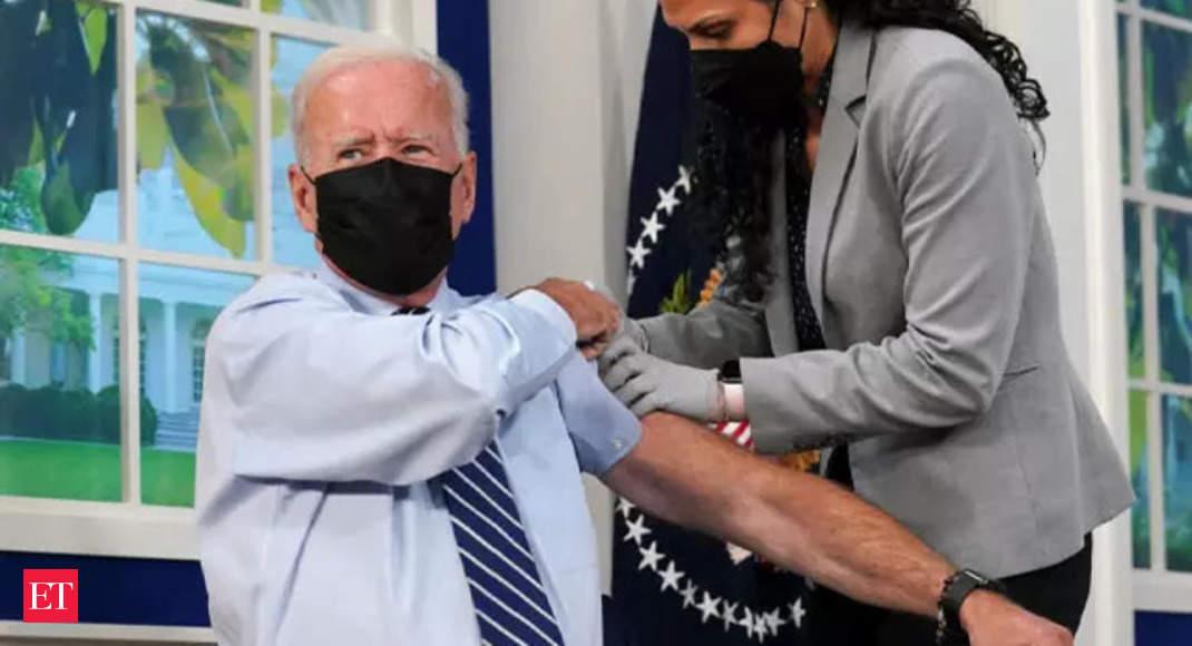 Watch: President Joe Biden receives Covid-19 booster shot thumbnail