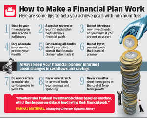 how to make a financial plan work the economic times