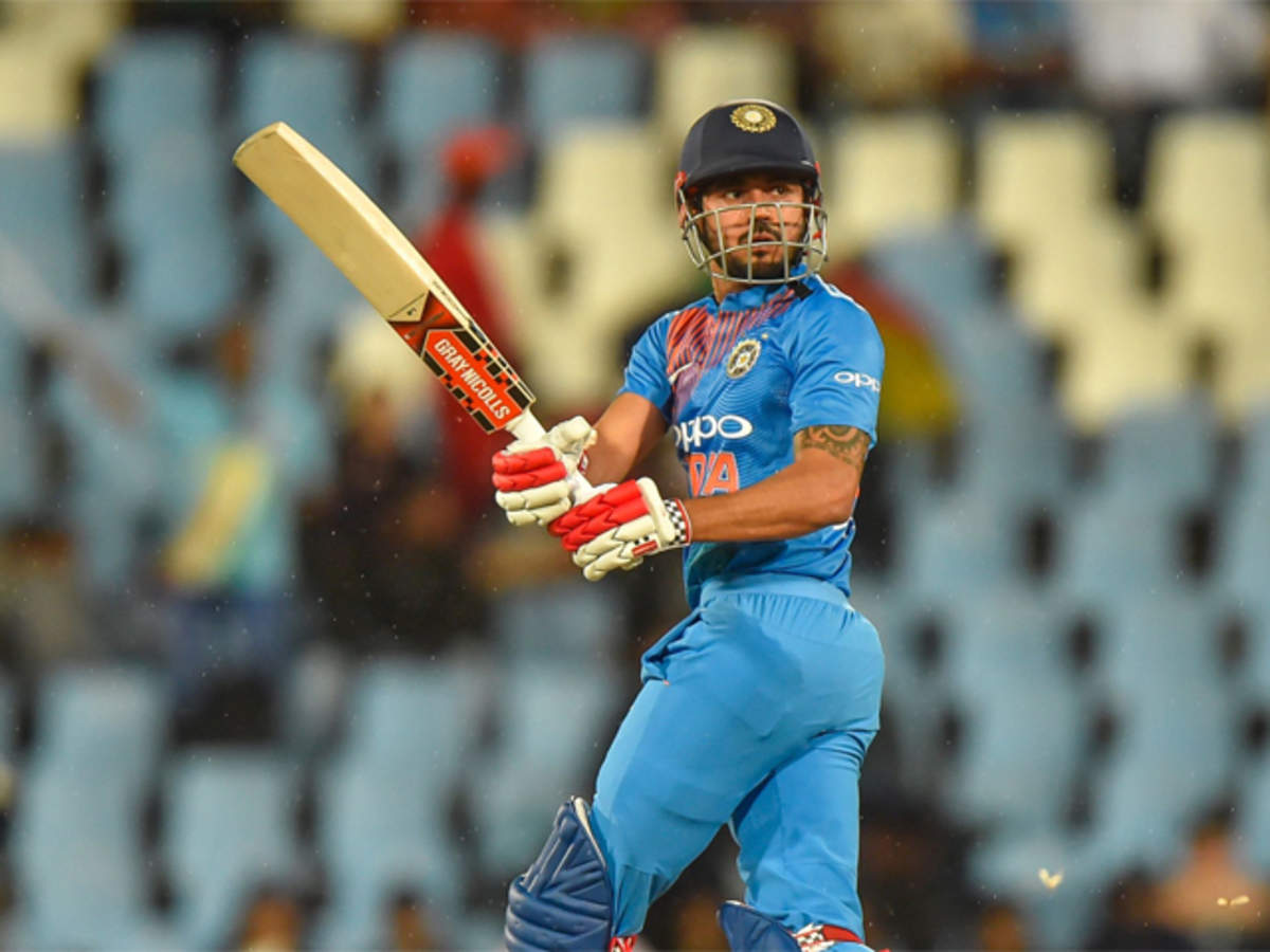 India vs South Africa T20: Manish Pandey let down by a lack of  opportunities in toughest batting line-up? - The Economic Times