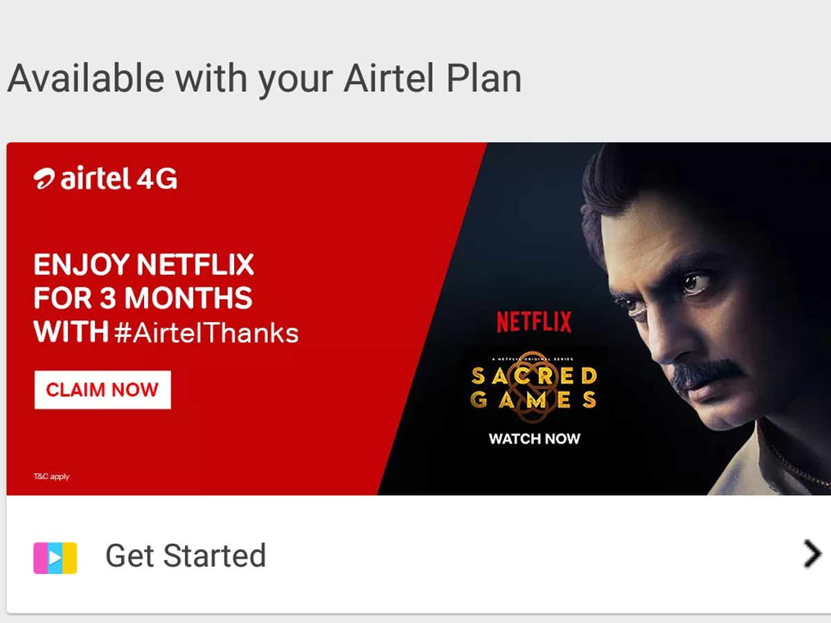 Airtel Netflix Subscription offer: Airtel offering free 3-months Netflix  subscription worth Rs 1,500: Here is how you can avail