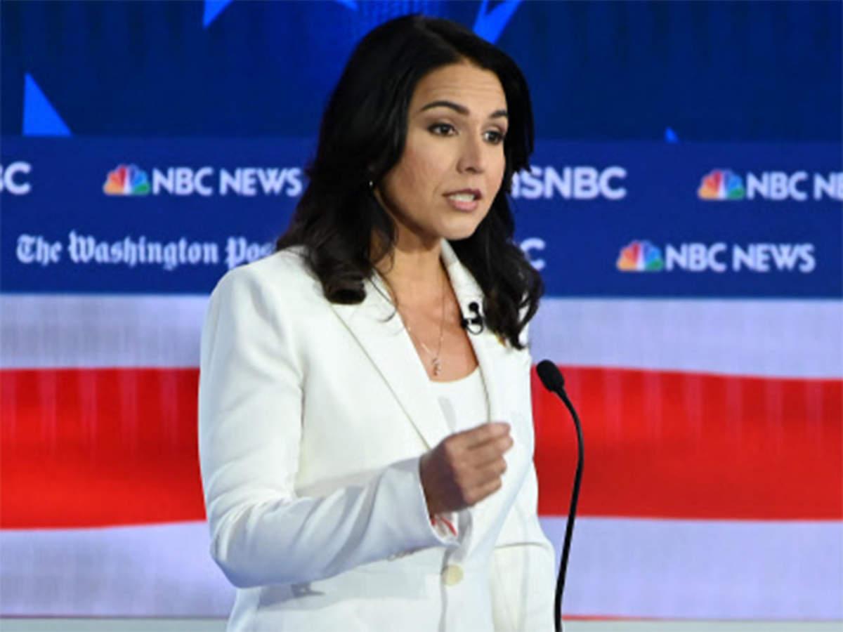 Us Kamala Harris Tulsi Gabbard Spar At Democratic Presidential Debate The Economic Times