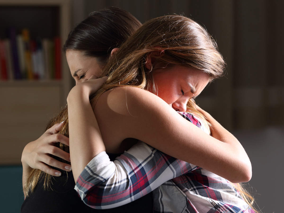 conflict-related stress: A hug a day will keep negative emotions and stress  away - The Economic Times