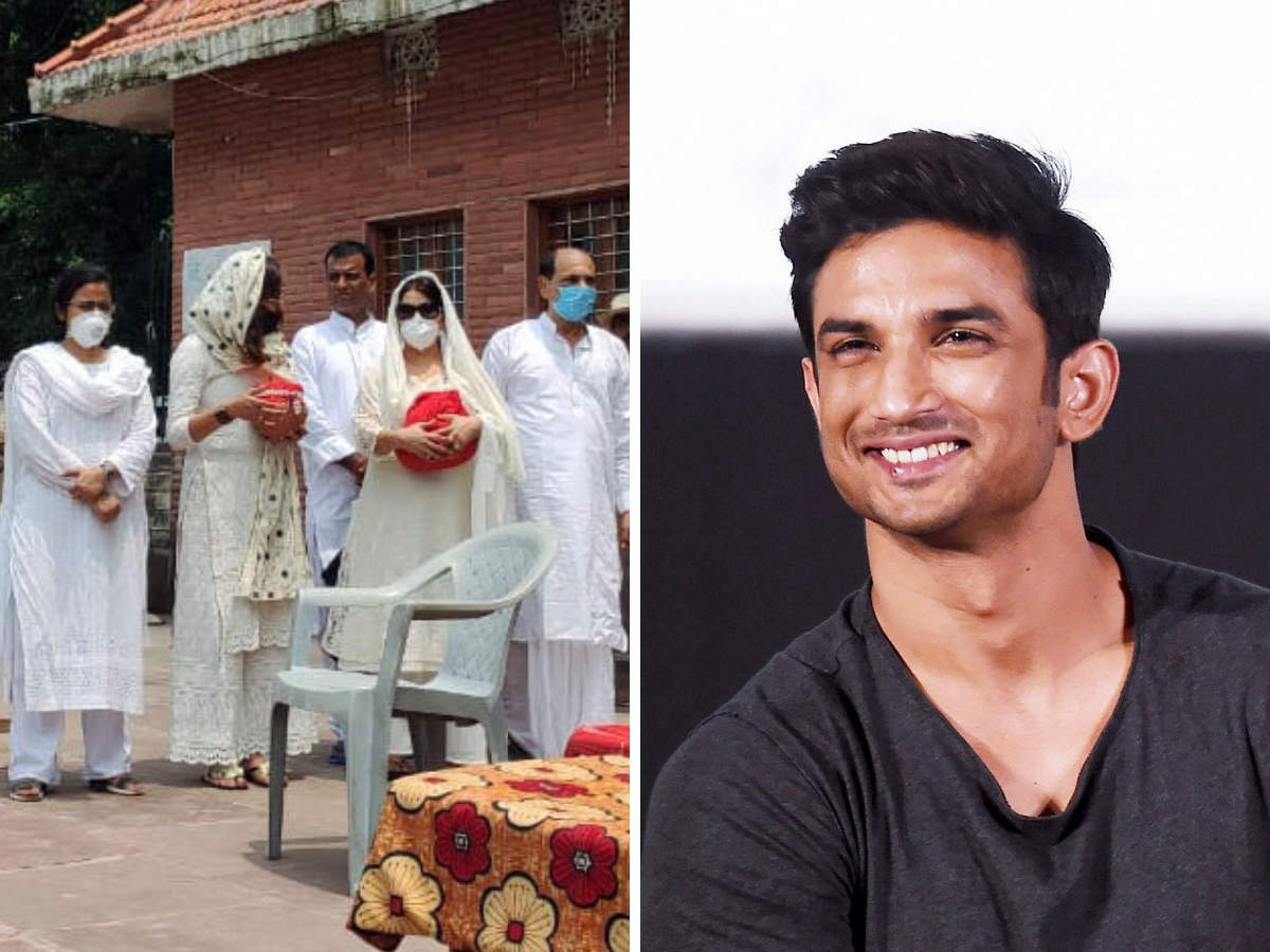 Sushant Singh Rajput: Father, sisters bid farewell to Sushant Singh Rajput,  actor's ashes immersed in Ganga - The Economic Times