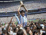 Tribute to Diego 'hand of God' Maradona