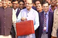 FM Arun Jaitley shows off Budget 2016 briefcase