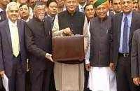 FM Arun Jaitley, ministry officials leave for Rashtrapati Bhavan
