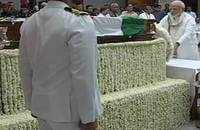 Vajpayee's final journey: Party leaders pay floral respect at BJP HQ