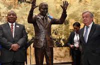 UN unveils statue honoring Nelson Mandela