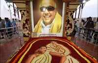 Watch: Statue of Karunanidhi unveiled at DMK HQ in Chennai