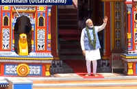 Watch: PM Modi leaves from Uttarakhand's Badrinath