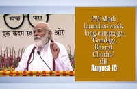 PM Modi launches week-long campaign 'Gandagi, Bharat Chorho' till August 15