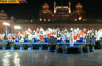 New Delhi: Indian Armed Forces give musical band performance at Red Fort