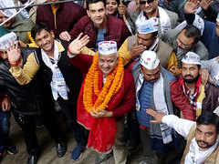 Delhi assembly polls: Manish Sisodia takes out 'Padayatra' ahead of filing nomination