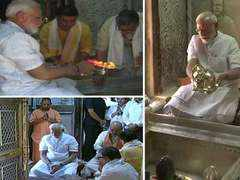 ​PM in Varanasi: Performs puja along with Amit Shah at Kashi Vishwanath Temple