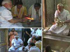 PM in Varanasi: Performs puja along with Amit Shah at Kashi Vishwanath Temple
