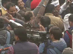 Delhi Election Results: Celebrations begin at AAP HQ as party soars beyond halfway mark