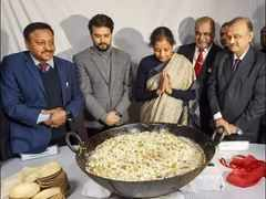 FM Sitharaman attends the customary halwa ceremony