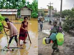 Parched and flooded: A tale of two Indias