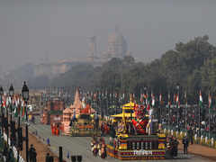 India shows its rich cultural heritage and economic progress with various tableaux on Republic Day