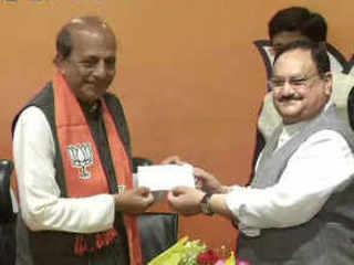 Former TMC MP Dinesh Trivedi joins BJP in presence of J P Nadda