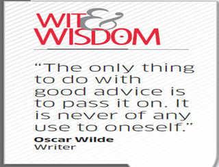 Who was Oscar Wilde?