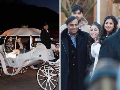 Inside Akash-Shloka's Winter Wonderland bash: Mukesh, Isha Ambani at the carnival; fireworks light up Swiss sky