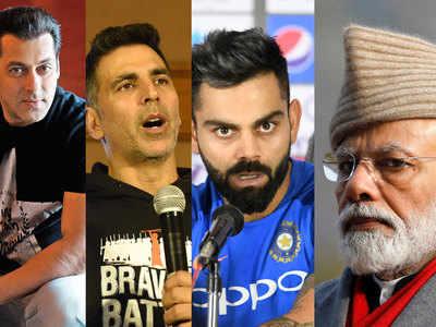 Watch out for this battle: Salman, Akshay, Varun Dhawan pitted against Modi, Virat Kohli, Dhoni