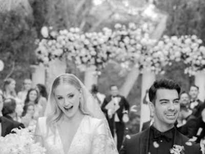 Sophie Turner looks like a dream in LV gown at gorgeous wedding with Joe Jones