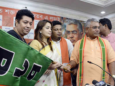 BJP's star power in Bengal: Actress Rimjhim Mitra, two other celebs join party