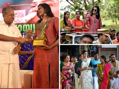 The champ returns! Sindhu comes home to prayers, parades and prizes