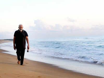 PM Modi cleans Tamil Nadu beach ahead of talks with Xi Jinping