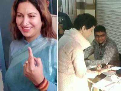 Kumari Selja, Sonali Phogat cast their vote in Haryana
