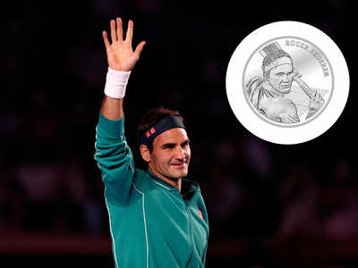 Making history: Federer becomes first living Swiss to have a coin minted in his honour